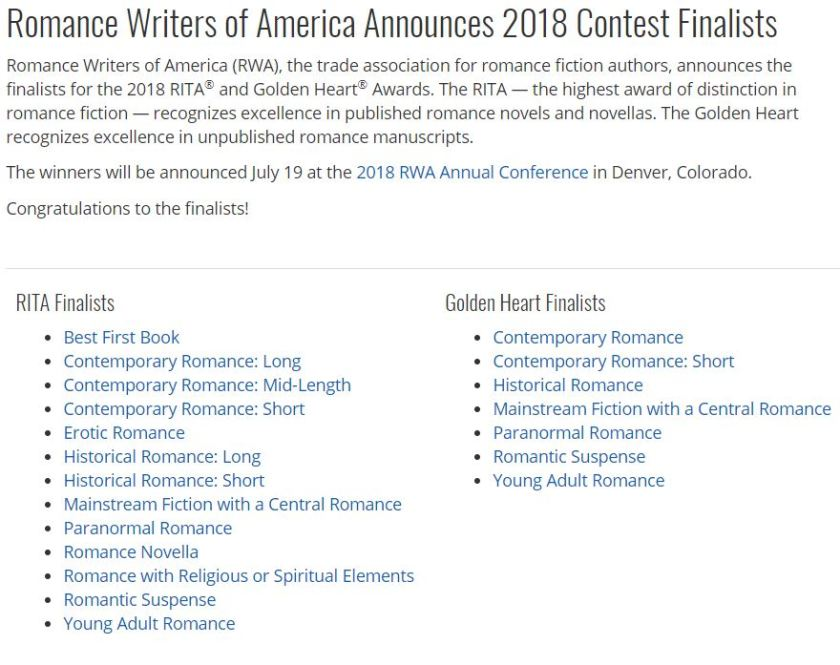 Romance Writers of America and the Absence of Black RITA Winners
